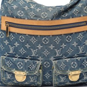 Luis Vuitton Denim Baggy GM blue